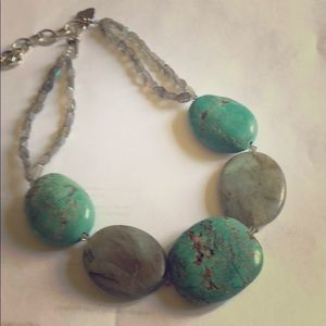 Jewelry - Turquoise and Labradorite Necklace